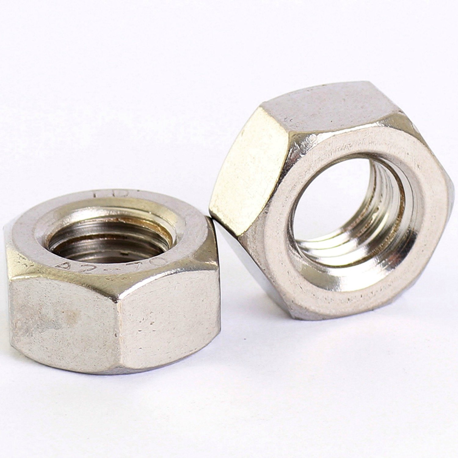 Metric Extra Fine M20 x 1.5mm A2 Stainless Steel Hexagon Full Nuts