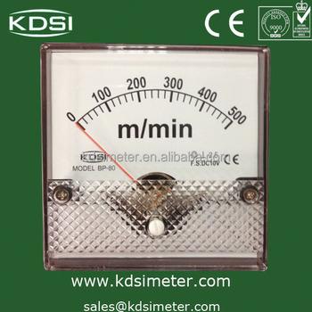Analog Panel Meter Bp-80 10v Rpm Panel Meter