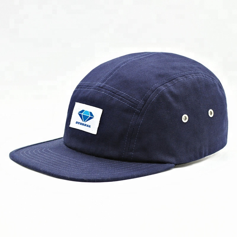 Custom 5 panel cap unstructured flat bill <strong>hat</strong> 5 panel <strong>hat</strong> with plastic buckle closure