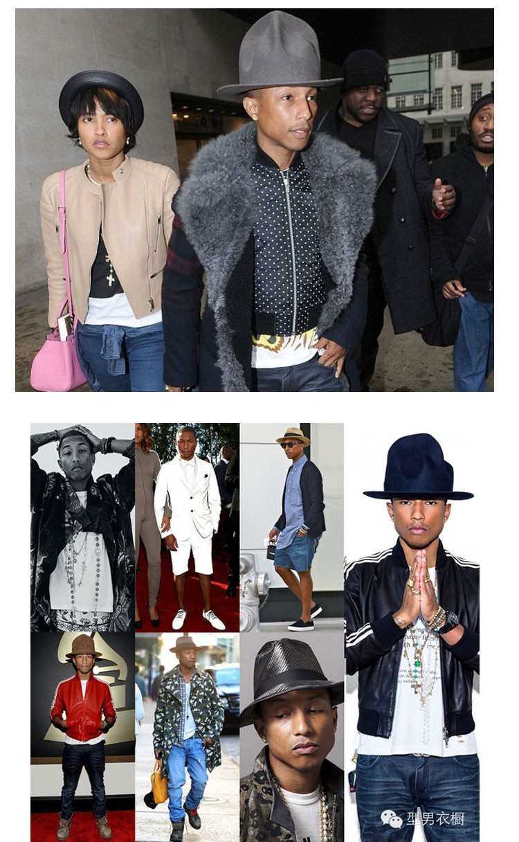 Pharrell Williams Celebrity Style! felt fedora hat for woman hats Fedora  hats for men hats fedoras black hat top ... ee984e5d65b