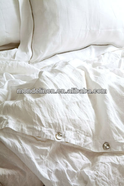 stone-washed pure nature linen bedding set bed linens