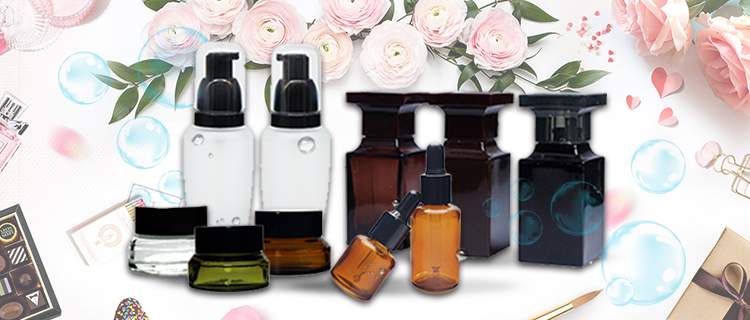 50ml amber square glass perfume bottle factory