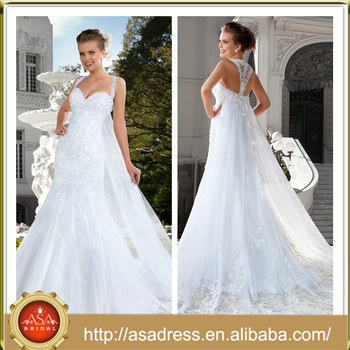 V16 Greek Goddess Style Wedding Dress With Double Lace Spaghetti ...