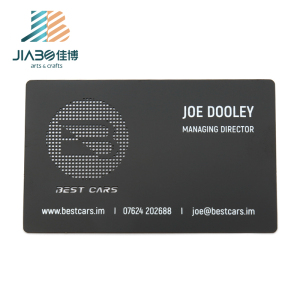 jiabo fashion stainless steel custom visit name metal business card