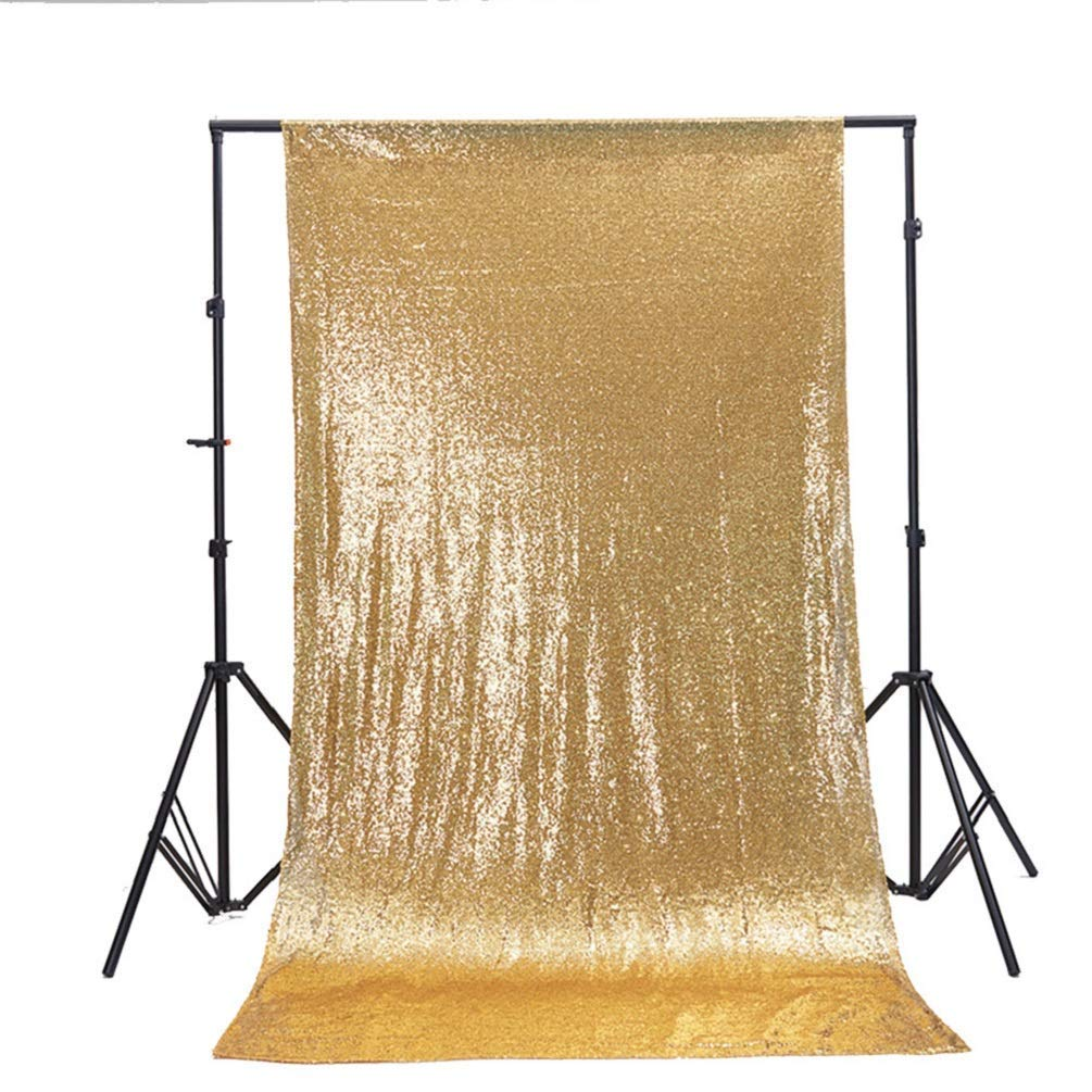 TRLYC Sale, Gold Sequin Photography Backdrop, Christmas Sequin Backdrop, Custom Size