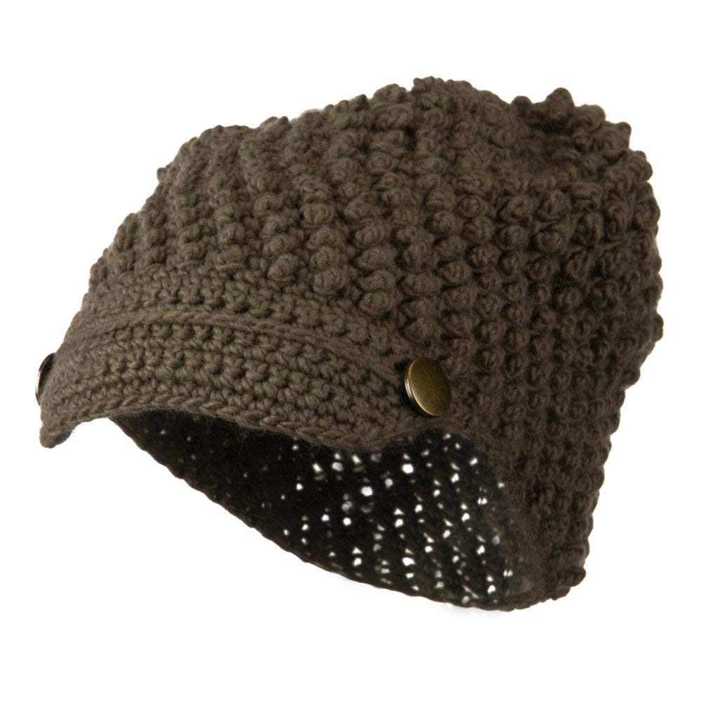 0c90a27d91105 Get Quotations · Woman s Knotted Woven Soft Brim Beanie - Mocha W16S10A