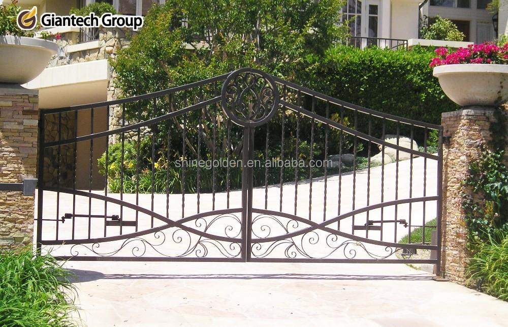 Elegant Wrought Iron Garden Edging Fence