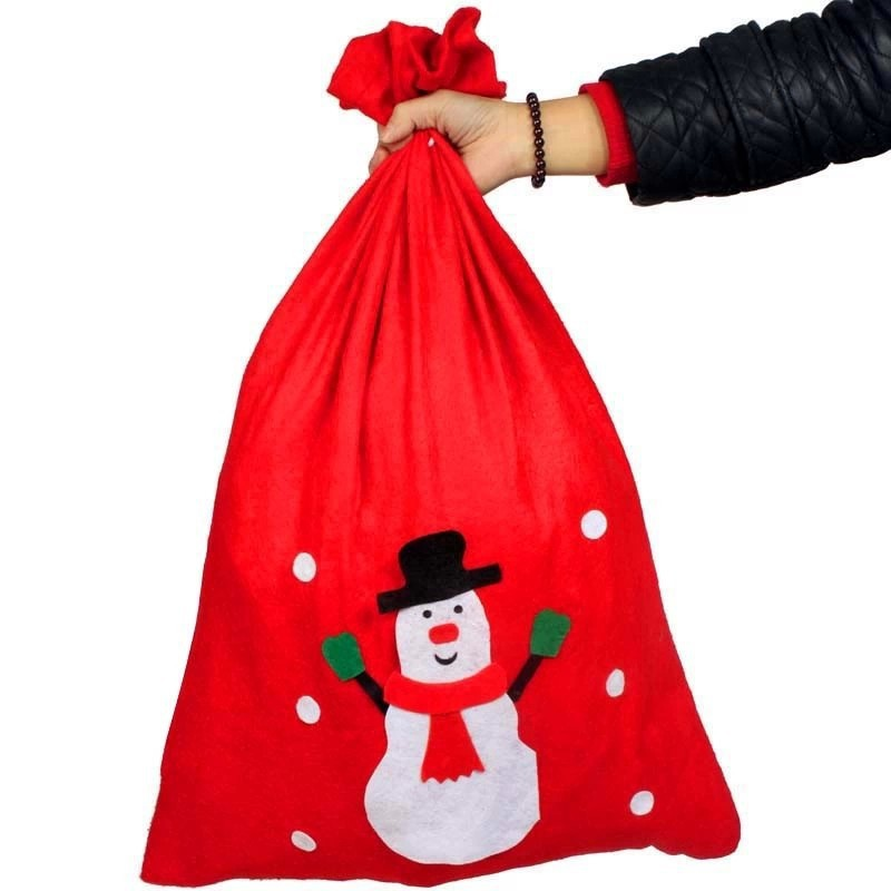70x50cm Christmas gifts bag, promotional gifts bag Santa Claus bag back High-end gift bag children love