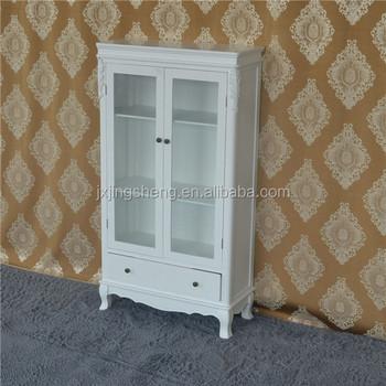Antique Wooden Cabinet Door Display Rack Modern Glass Display