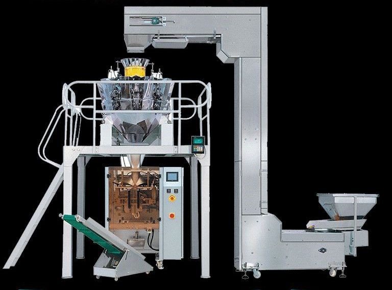 Combined electronic scale packing system for automatic granule packing machineLLQ-K520