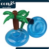 2017 wholesale Inflatable Palm Island Drink Holder Float your drinks in style pool party cup holder