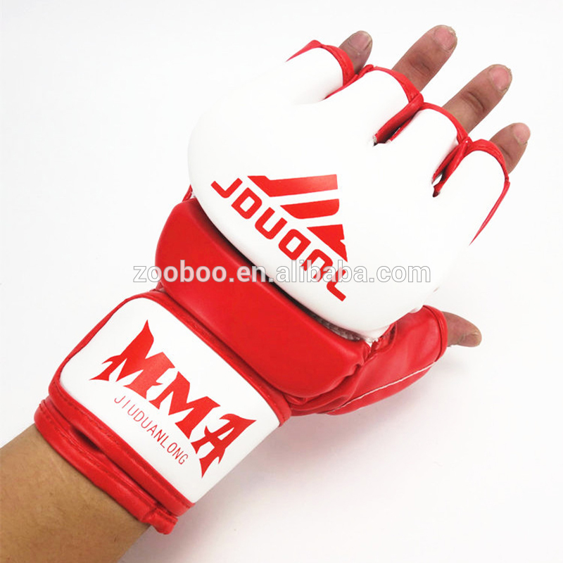 high quality PU thumb protection boxing MMA fighting glove
