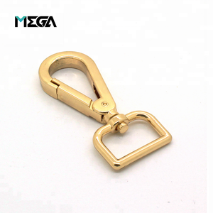 Fashion high quality hardware accessories quick release heavy duty gold plated lanyard d ring metal swivel snap hook for bag