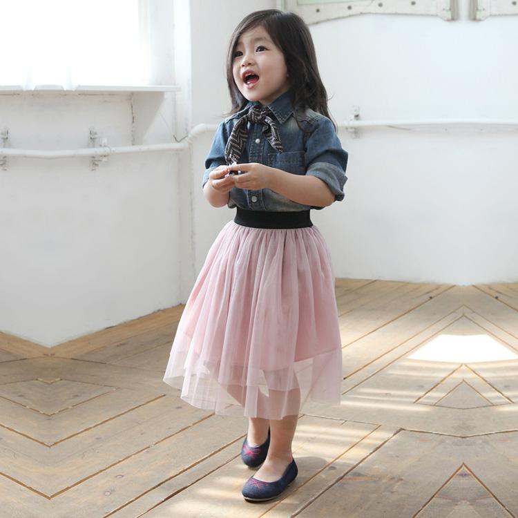 spring and summer girls tutu age 3 8 tulle skirts children fluffy skirt kids tutu skirt