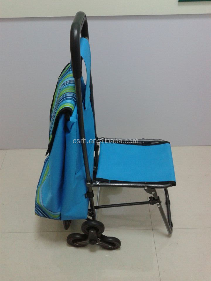Folding Fabric Shopping Cart With Wheels