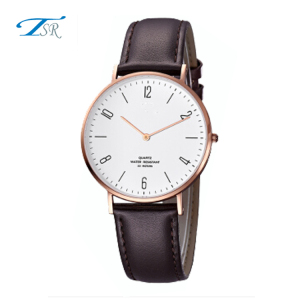 Hot selling watches 2017 new design for man shenzhen genuine leather strap watch timepieces