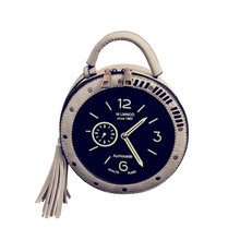 Horloge circulaire Populaire Dames Rond <span class=keywords><strong>Sacs</strong></span> Concepteur Sac À Main <span class=keywords><strong>Femmes</strong></span> <span class=keywords><strong>Sacs</strong></span> À Main Et <span class=keywords><strong>Sacs</strong></span> à main