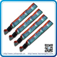 Cheap items to sell Sports Theme and Embroidered Technique woven wristbands for event decoration