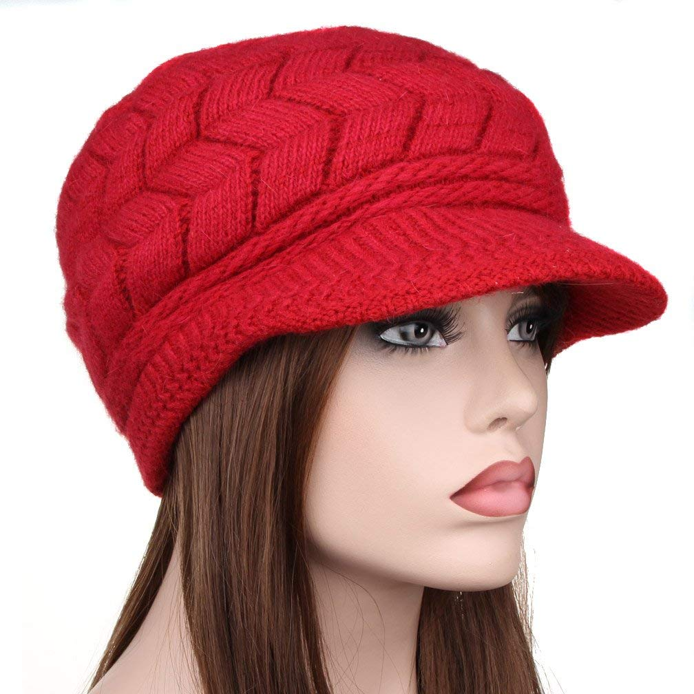 34722d6cc62 Get Quotations · TENGYI YiTeng Women Winter Warm Knit Hat Snow Ski Caps  With Visor