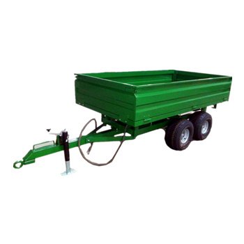 4wheel two axle hydraulic tipper trailer ; agriculture dump truck towbehind tractors