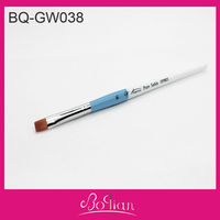BQAN Double Color Wooden Handle Flat Hair Nail Art Painting Pen