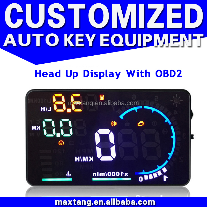 "Universal 5.5"" OBD2 Car Head Up Display Alarm Security System With OBD II Interface EM030"