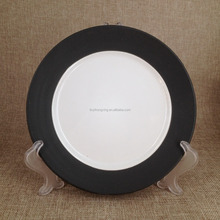 matt glaze plate for promotion stock 20cm round ceramic salad plate