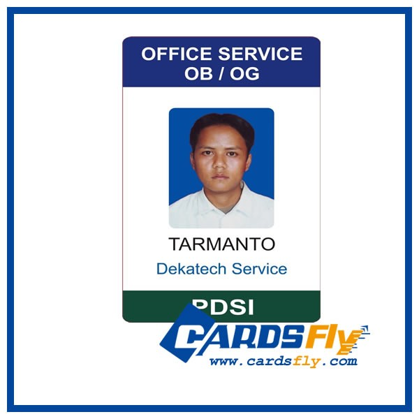 Customized Printing Pvc Photo Id Cards / Plastic Sample Employee