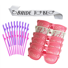 bride to be sash, party glasses, penis straw bachelorette party favors set