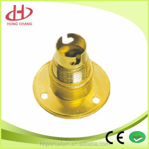 disc type electric light bulb base brass lamp holder