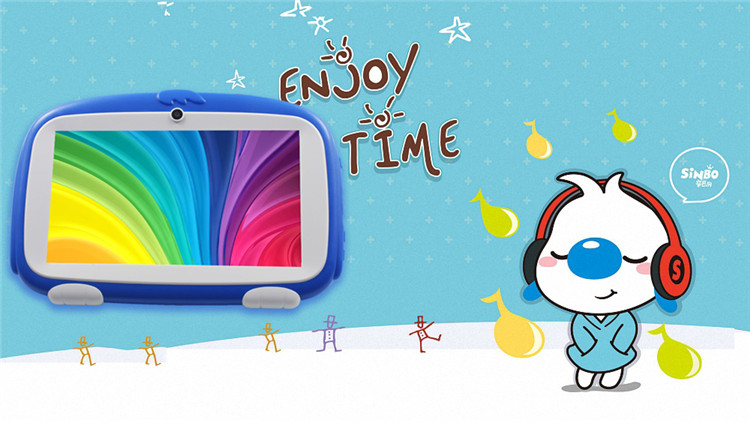 7 Inch Kids Android Tabletten Pc Dual Camera 8 GB 1024*600 Tab Pc Voor baby Kids Tablet Quad core Bluetooth WiFi Tablet