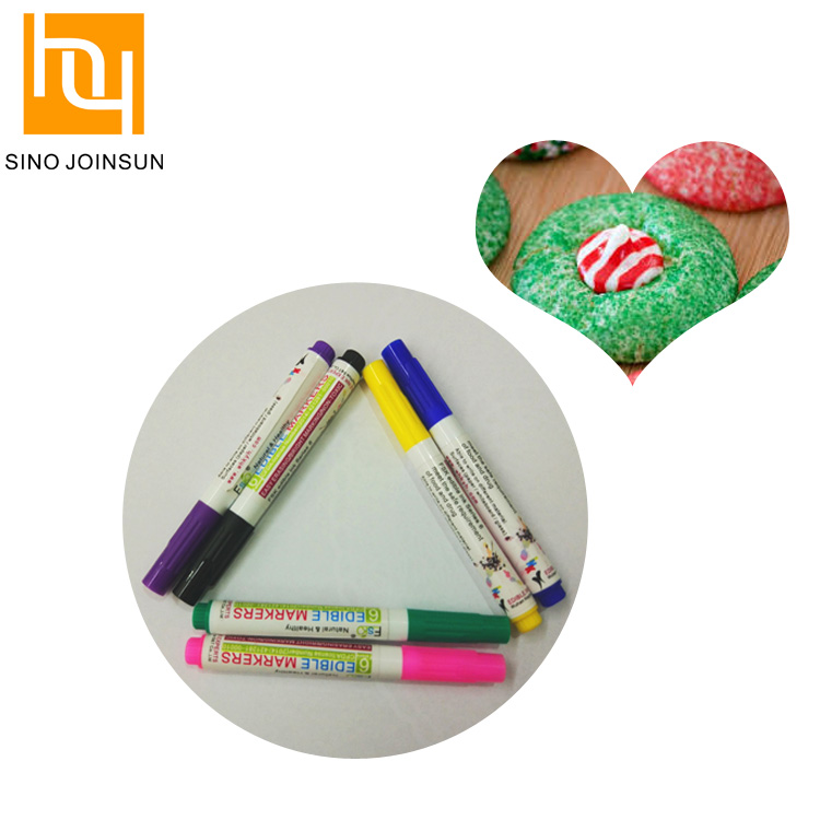 6 Color Edible Ink Safe Food Coloring Pens For Paper Drawing - Buy Edible  Ink,Food Safe Pen,Edible Ink Pen Product on Alibaba.com