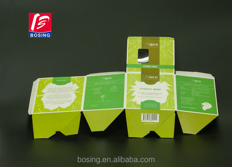 Custom Design simple gold card paper <strong>packing</strong> of small box for fruit tea packaging