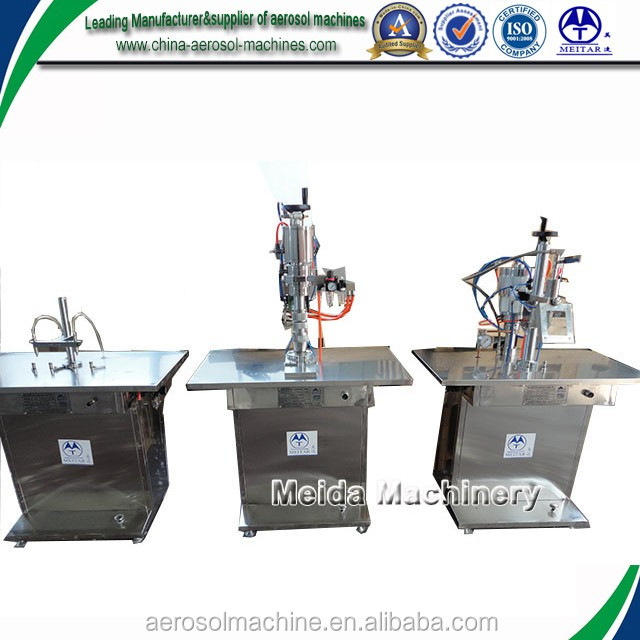 semiautomatic metered dose inhaler filling machine for aerosol cans