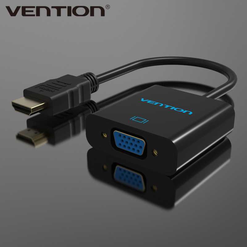 Quality assurance online shopping Vention female vga to male hdmi hd hdtv video converter