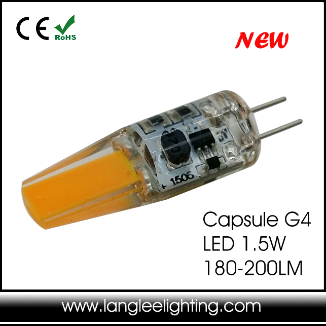New Silicone G4 Led Cob1.5w 180lm Replace 20w Halogen Lamp