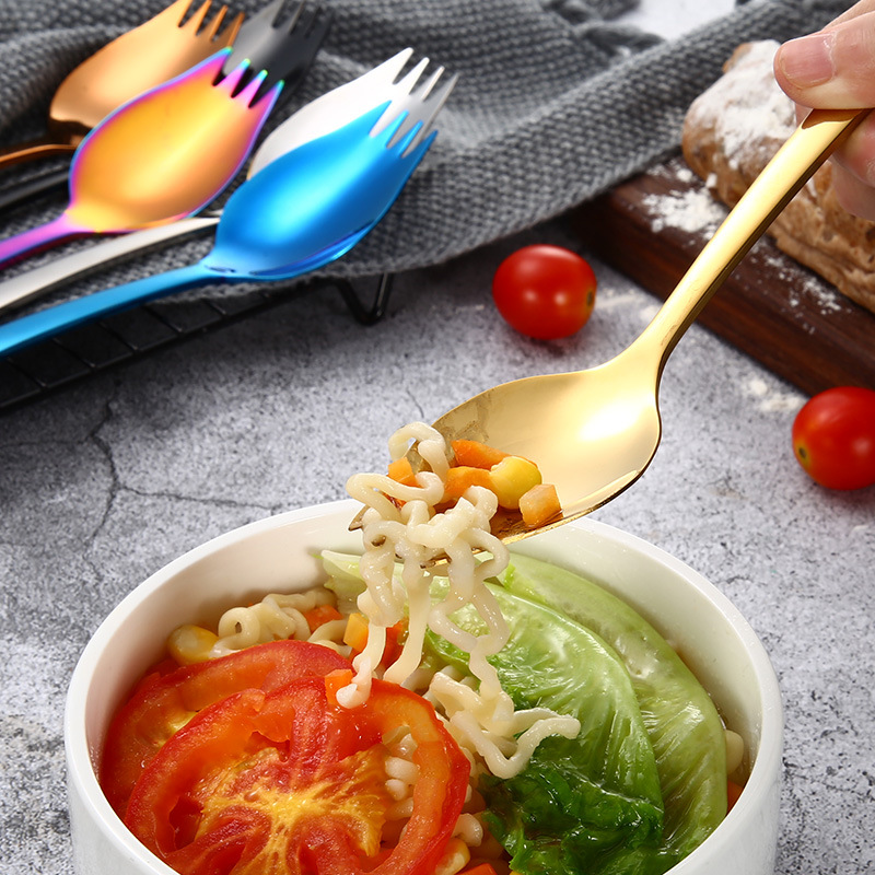 Stainless steel straw custom metal knife spork straw set eco friendly straw stainless steel