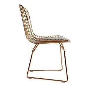 Modern Style Recycled Iron Stainless Steel Base Small Modern Iron Bar Chair With Drawers