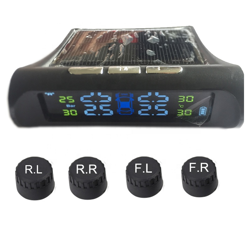 High And Bright Clear Color LCD Display Mini Monitor Tyre Pressure Alarm System TPMS