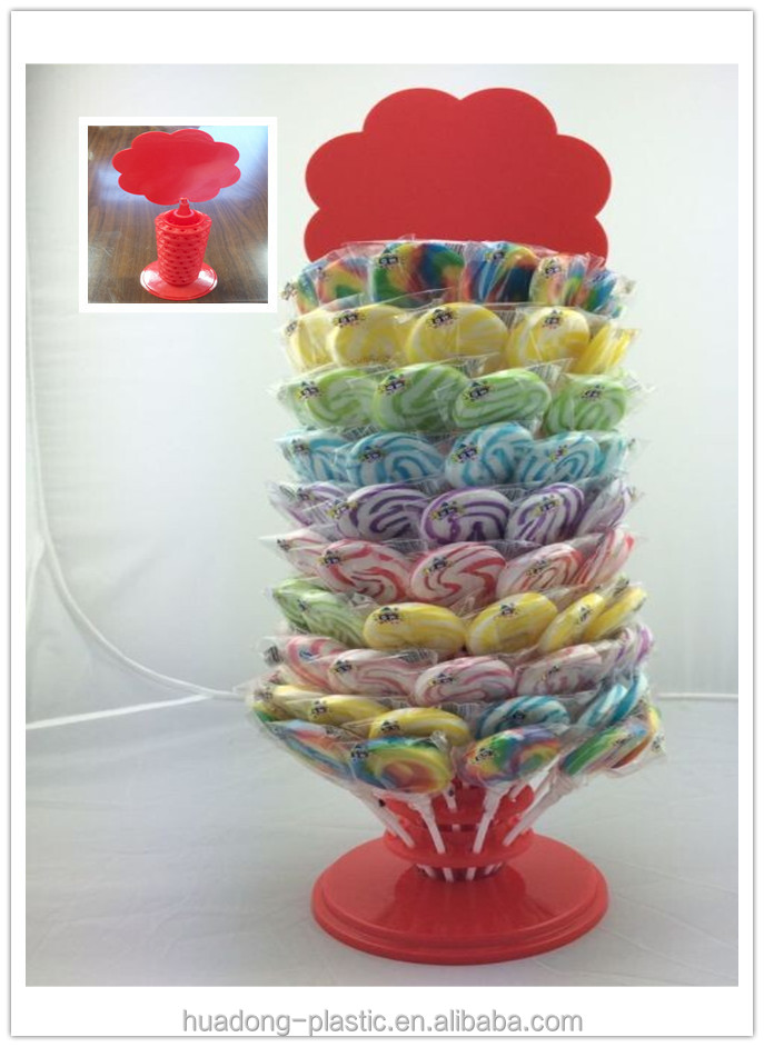 Popular plastic lollipop/candy display shelf stand