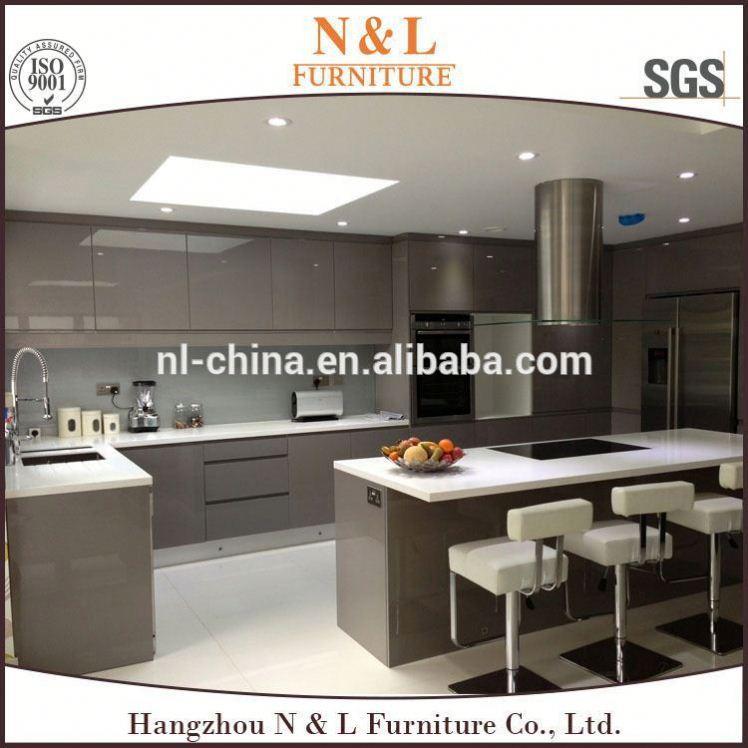 china hizo barato de alto brillo cocina modular laca muebles de importacin de china
