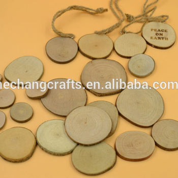 Natural Wood Slices Discs With Bark Craft Pyrography - Buy Thin Wood Slices  With Bark,Wood Craft Signs,Wood Cutting Disc Product on Alibaba com