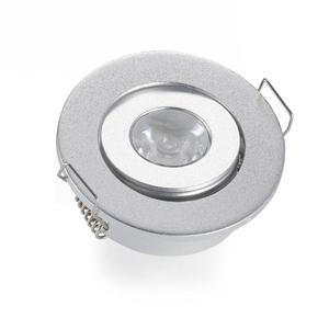 Aluminum Round Design Silver Housing Color Led Mini Spot Light Dimmable Mini Led Downlight 1W