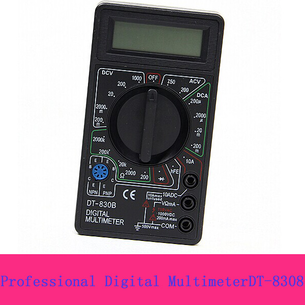 3 in1 DC/AC Voltmeter, Ammeter and ohmmeter digital Multimeter DT830B