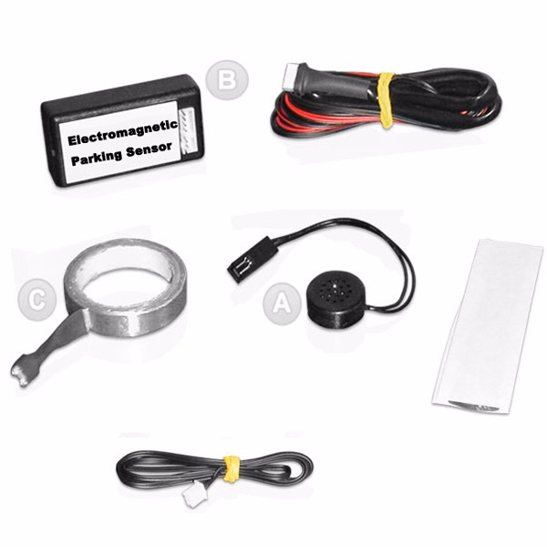 Auto Electromagnetic(EPS) parking sensor with buzzer,NO NEED DRILL ON BUMPER