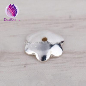 Jewelry finding 925 sterling silver flower bead caps