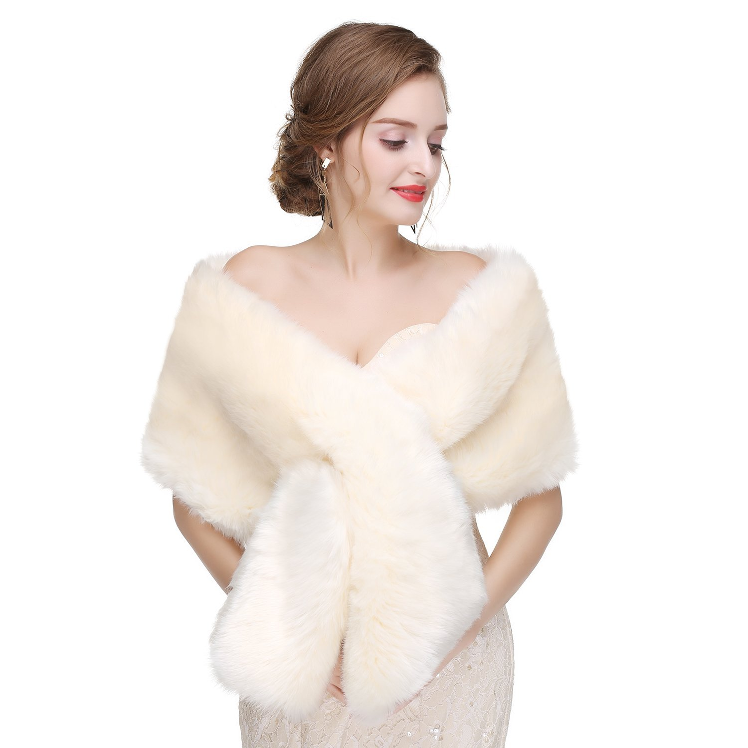 Buy Yikaya Elegant Faux Fur Shawls and Wraps for Women