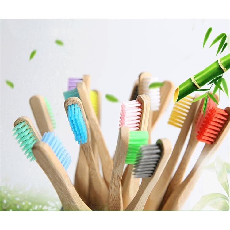 Низкая цена от производителя, Бамбуковая зубная щетка, недорогая зубная щетка для путешествий/отеля