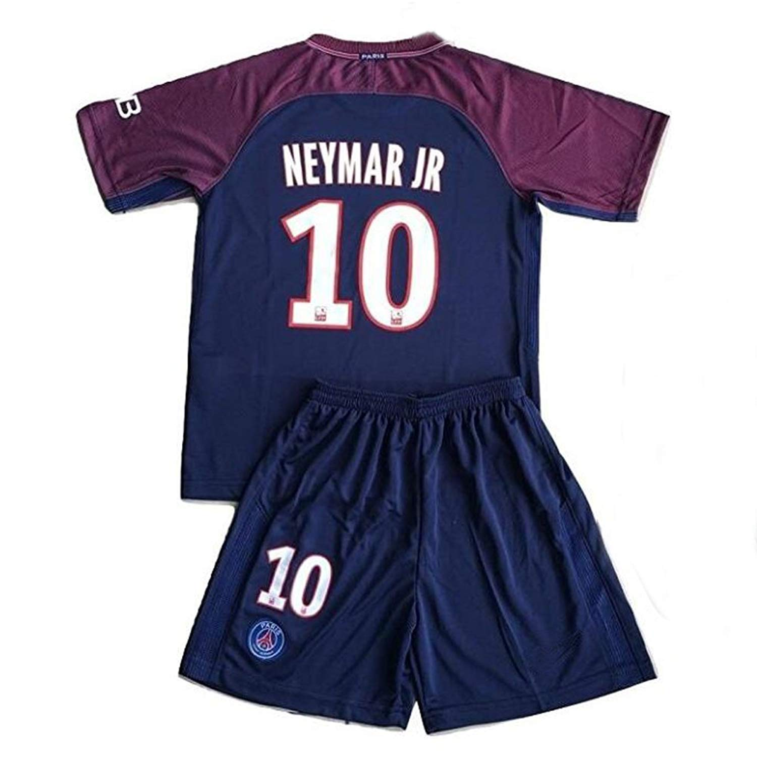 c6864d9fc358f Get Quotations ·  10 Neymar Jr PSG 2017-2018 Kids Youths Home Soccer Jersey    Shorts