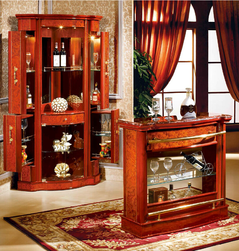 Wholesale Spanish Style Wood Mini Corner Design Home Bar